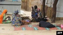 Des résidentes du camp interne de personnes déplacées d'El-Miskin le 20 août 2020 à Maiduguri.