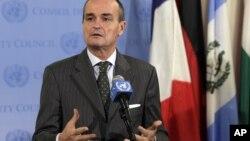 安理会当值主席、法国大使阿诺德就叙利亚问题答记者问