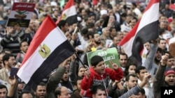 2012年12月14日穆尔西总统支持者在开罗对新宪法草案进行全民公投投票