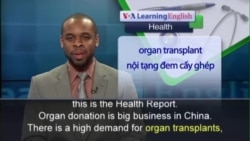 Anh ngữ đặc biệt: China Organ Donation (VOA)