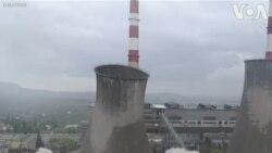 Phá hủy tháp giải nhiệt ở Ba Lan