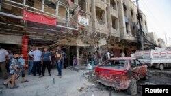 Một trong các địa điểm bị tấn công bằng bom ở Iraq hôm 28/8/13