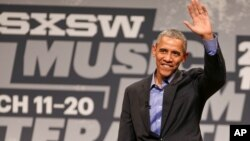 President Barack Obama speaks during the opening day of South By Southwest at the Long Center for the Performing Arts in Austin, Texas, March 11, 2016.