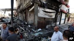 繁忙购物街汽车炸弹爆炸现场