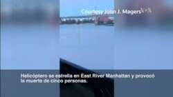 Helicóptero se estrella en Nueva York y mueren 5 personas