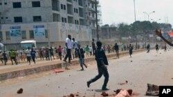 Des manifestants en Guinée (AP)