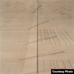 """""""Untitled"""" by Nasreen Mohamedi is part of the Nasreen Mohamedi retrospective currently on display at the Met Breuer. (Photo courtesy of The Met Breuer)"""