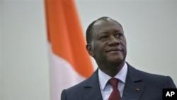 Mr.Alassane Ouattara wanda Majalisar Dinkin Duniya ta ce shi ya ci zabe.