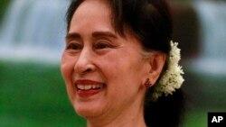 Aung San Suu Kyi , Naypyidaw, Birmanie, le 22 mai 2018.