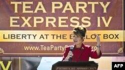 Một trong những gương mặt của đảng Cộng Hòa nổi bật nhất trong cuộc vận động tranh cử năm nay là cựu thống đốc bang Alaska bà Sarah Pailin