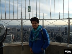 On the Empire State Building during a trip to New York City last spring