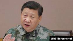 習近平2017年11月3日視察軍委聯指中心(中國國防部網站截圖)
