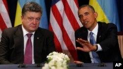 Барак Обама и Петр Порошенко. Варшава, Польша, 4 июня 2014.