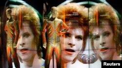 英国摇滚乐名人大卫·鲍伊的展览。