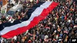 تظاهرات حامیان مقتدی صدر در منطقه دولتی بغداد