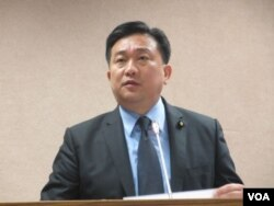 台湾执政党民进党立委王定宇(美国之音张永泰拍摄)