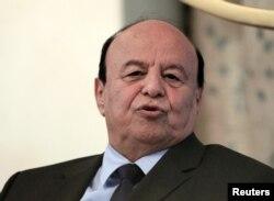 FILE - Yemen's President Abd-Rabbu Mansour Hadi during a visit in Khartoum.
