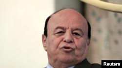 FILE - Yemen's President Abd-Rabbu Mansour Hadi, August 29, 2015.