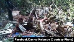 Biteni ya mpepo Antonov 72 pene na mboka Okoto, na Kole, Sankutu, 16 octobre 2019. (Facebook/Danico Kalombo)