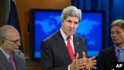 جان کری، وزیر خارجه آمریکا در کنفرانس خبری گزارش حقوق بشری سال ۲۰۱۳ وزارت امورخارجه آمریکا - ۲۸ ژوئییه ۲۰۱۴