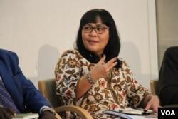 Bonaria Siahaan, executive director of the Millennium Challenge Account, Indonesia. (Vathana Seourn/VOA)