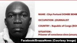 Ghys Fortuné Dombé Bemba, directeur de publication de l'hebdomadaire indépendant Talassa, arrêté depuis le 11 janvier 2017, à Brazzaville, Congo. (Facebook/BrazzaNews)