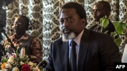 President of the Democratic Republic of Congo, Joseph Kabila, holds a press conference for the first time in five years on January 26, 2018.