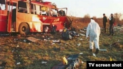 Autobus Niš ekspresa koji je napadnut u Livadicama (arhiva)