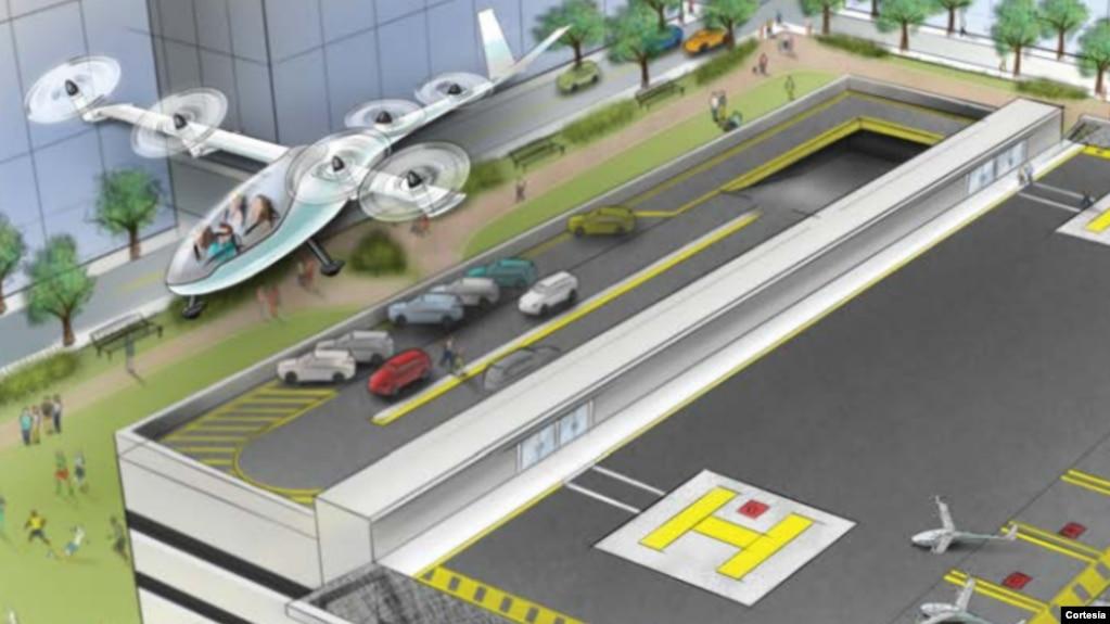 Concepto de Uber Elevate para el que ha sido contratado un ingeniero de la NASA.