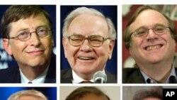 Majalah Forbes menghitung gabungan kekayaan 85 orang terkaya di dunia mencapai 1,7 trilyun dolar tahun lalu (foto: dok).