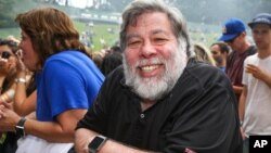 FILE - Steve Wozniak attends Outside Lands Music Festival at Golden Gate Park, Aug. 8, 2015, in San Francisco, Calif.