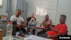 Estudantes africanos a estudar no Centro Universitário do Sul de Minas (UNIS)
