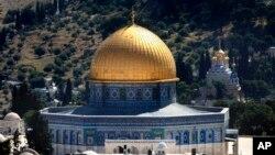 Giáo đường Hồi giáo Aqsa, một địa điểm linh thiêng trong thành phố Jerusalem.