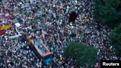 Demonstrasi di Rio de Janeiro untuk (20/6).