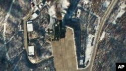 Северокорейская стартовая площадка для ракет (снимок сделан из космоса)