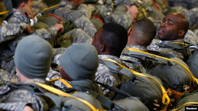 FILE - U.S. soldiers of the 1st Squadron, 91st Cavalry Regiments of the 173rd Airborne Brigade Combat Teams.