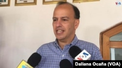 Sergio Maltés, vicepresidente del Consejo Superior de la Empresa Privada (COSEP) en Nicaragua dijo que esa entidad ha propuesto medidas urgentes al gobierno. [Foto Daliana Ocaña, VOA].