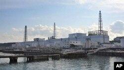 严重受损的东京电力公司福岛核电站