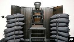 Ruangan untuk eksekusi regu tembak di Penjara Negara Bagian Utah, di wilayah Draper, Utah (Foto: dok).