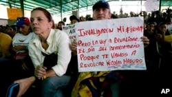 La oposición continúa luchando porque se respete el pedido al revocatorio.