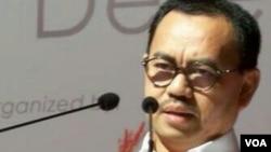 Menteri Energi dan Sumber Daya Mineral Sudirman Said di Jakarta (21/1). (VOA/Iris Gera)