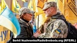 На торжествах в честь Дня защитников и защитниц Украины в Киеве. 14 октября 2021