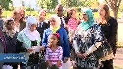 Washington'da Mültecilere Destek Gösterisi