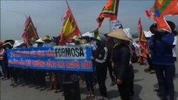 Giáo dân Đông Yên tiếp tục biểu tình chống Formosa