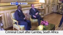 VOA60 Africa - Ivory Coast will not leave the International Criminal Court