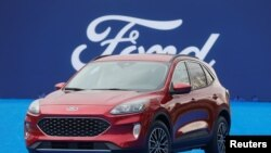 Ford Motor Co. unveils the new 2020 Escape SUV during a celebration at Greenfield Village in Dearborn, Michigan, March 28, 2019.