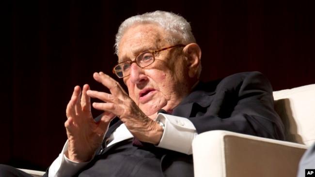 Cựu Ngoại trưởng Mỹ Henry Kissinger tại Hội nghị Thượng đỉnh về Chiến tranh Việt Nam ở Texas năm 2016.