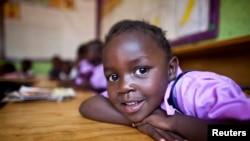Une petite ougandaise sourde à Nairobi (REUTERS/Samantha Sais)