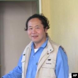 民主女神像雕塑者陳維明。
