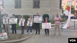 Акция памяти у посольства Беларуси